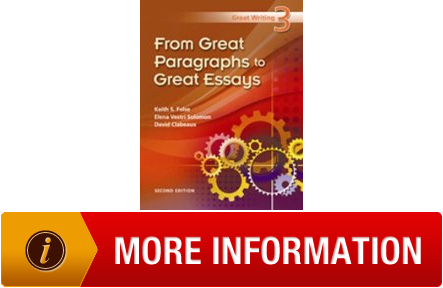 from great paragraphs to great essays 3 Available in: paperback from great paragraphs to great essays helps students perfect their paragraph writing skills in the first half of the text, and.